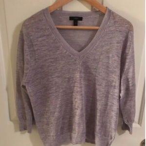J Crew Womens purple Long Sleeve knit top